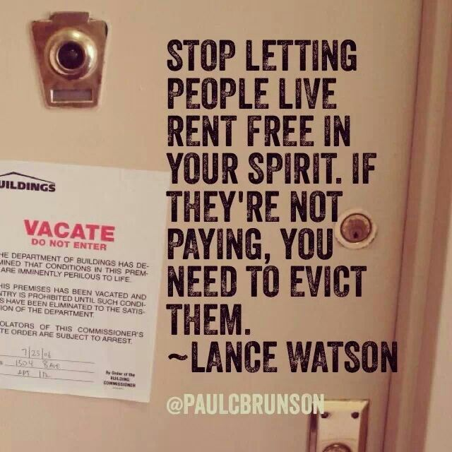 Stop Letting People Live Rent Free In Your Spirit Witty Quotes Souls Inspiration Let It Be