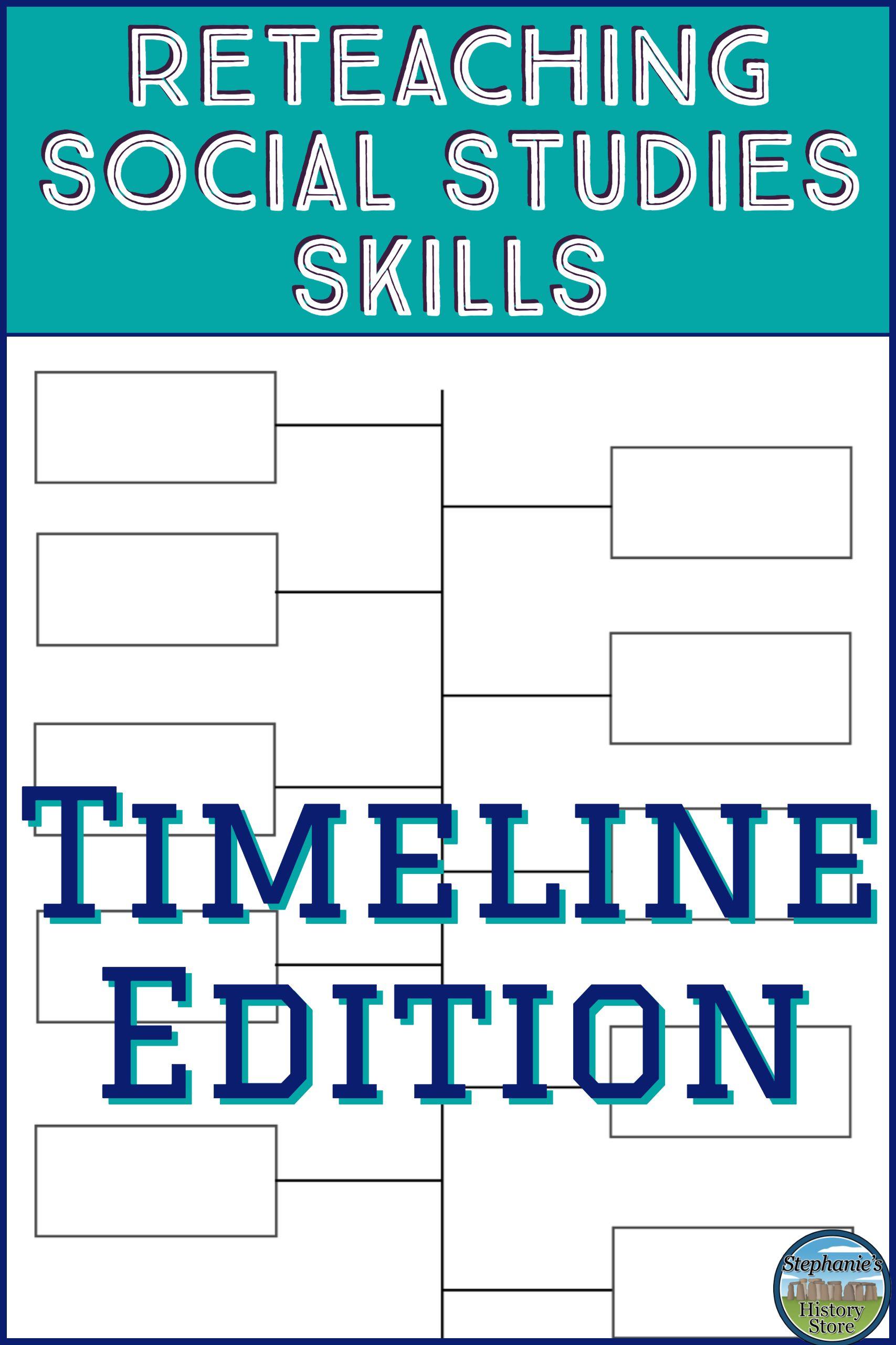 Reinforcing Social Studies SkillsTimelines  Social Studies