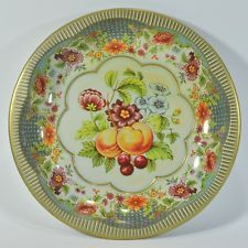 Daher Decorated Ware Tray Made In England Beautiful Vintage Daher Decorated Ware Tin Metal Bowl  Fruit