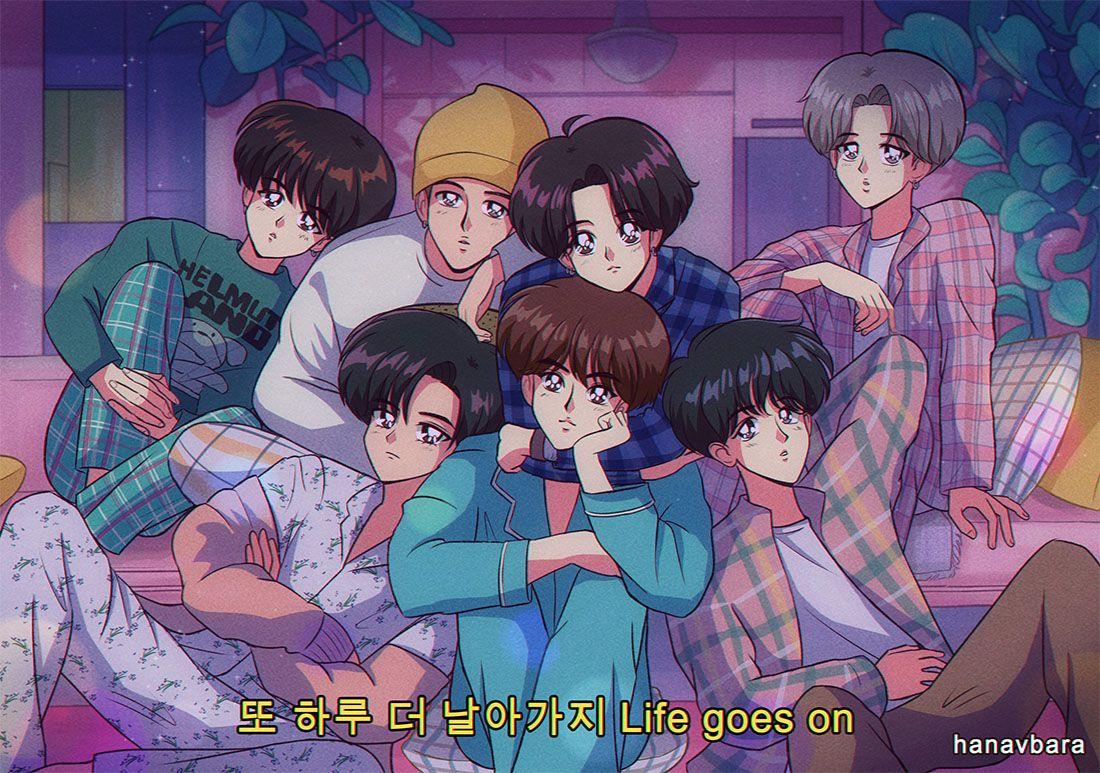 On Twitter 90 Anime Bts Fanart Anime Bts as anime characters wallpaper