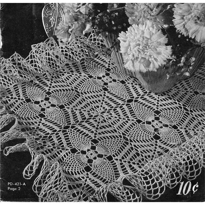 Square Pineapple Web Crochet Pattern   carpetas   Pinterest ...