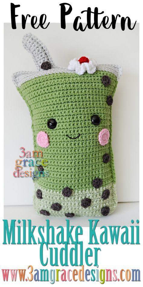 Milkshake Kawaii Cuddler - free crochet amigurumi pattern | breien ...