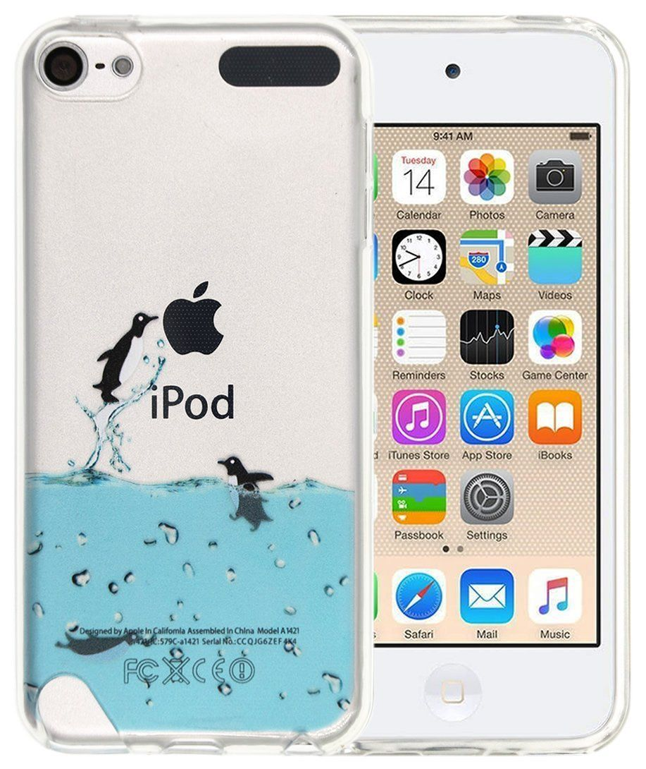 new concept b22e3 f48db Amazon.com: Ipod 6 Case, Ipod 5 Case, A-Focus Cute Painted Penguin ...