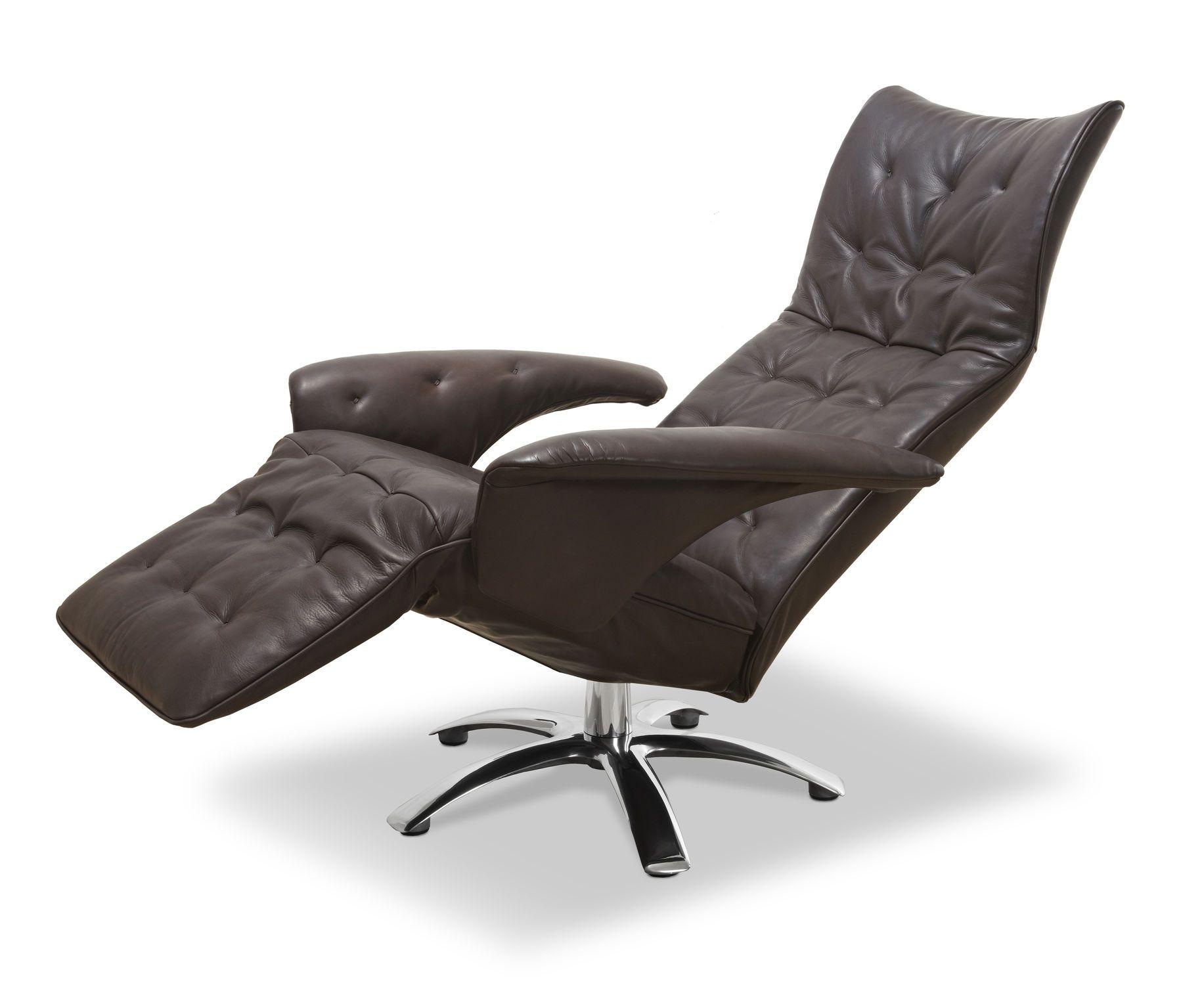 dark brown leather recliner chair. furniture, modern recliner chair design with brown leather as swivel footrest ~ interesting dark