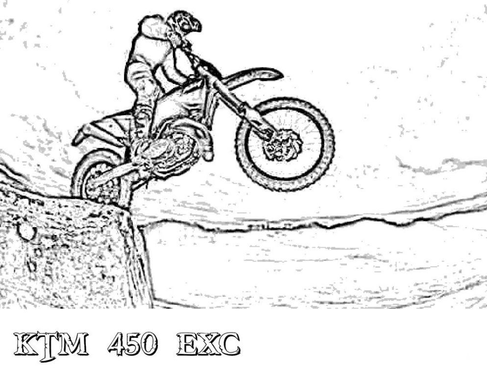 Dirt Bike Coloring Page : Amazing Coloring Page Designs