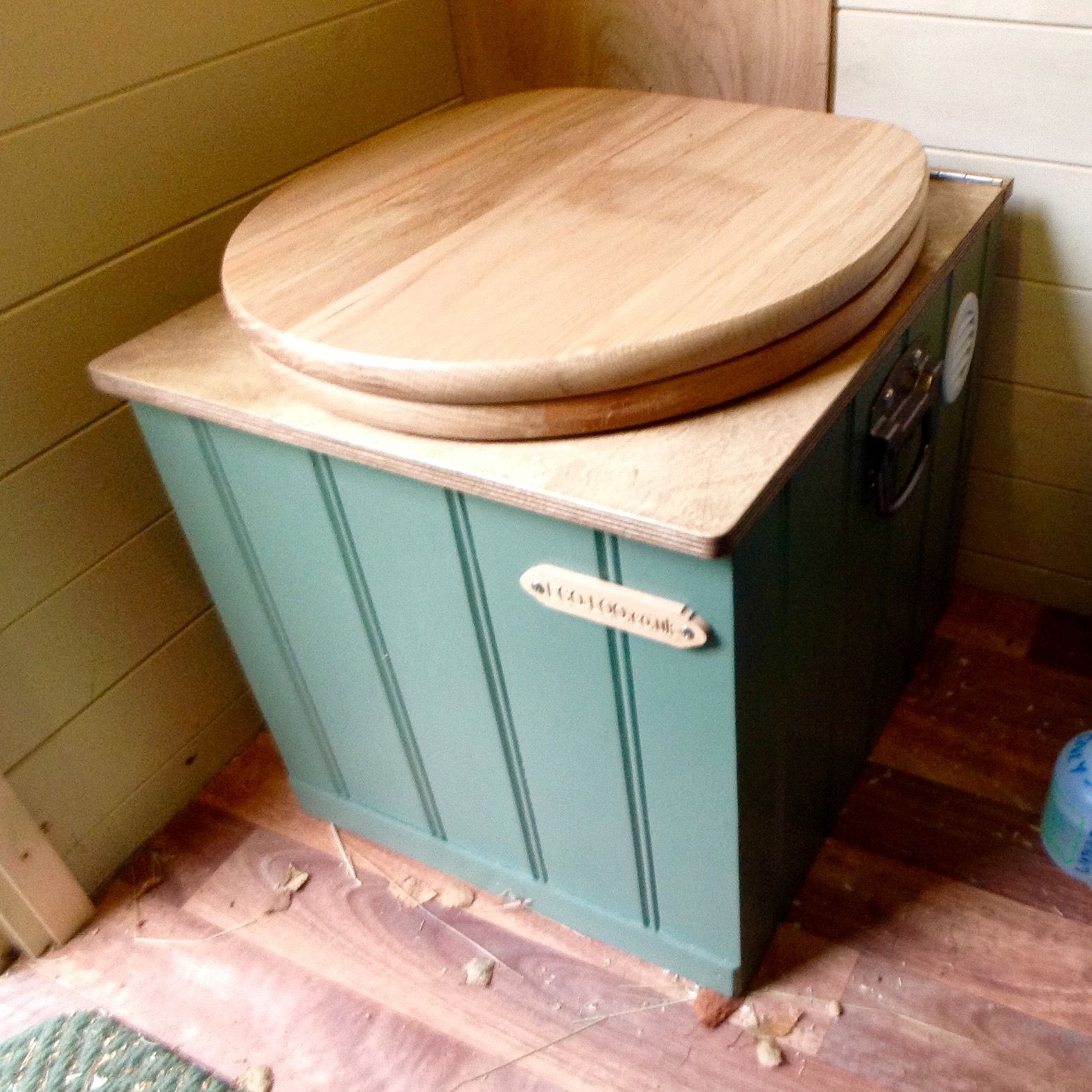 Eco-Loo Capture 5/13 compost toilet in use in my shed. Designed for ...