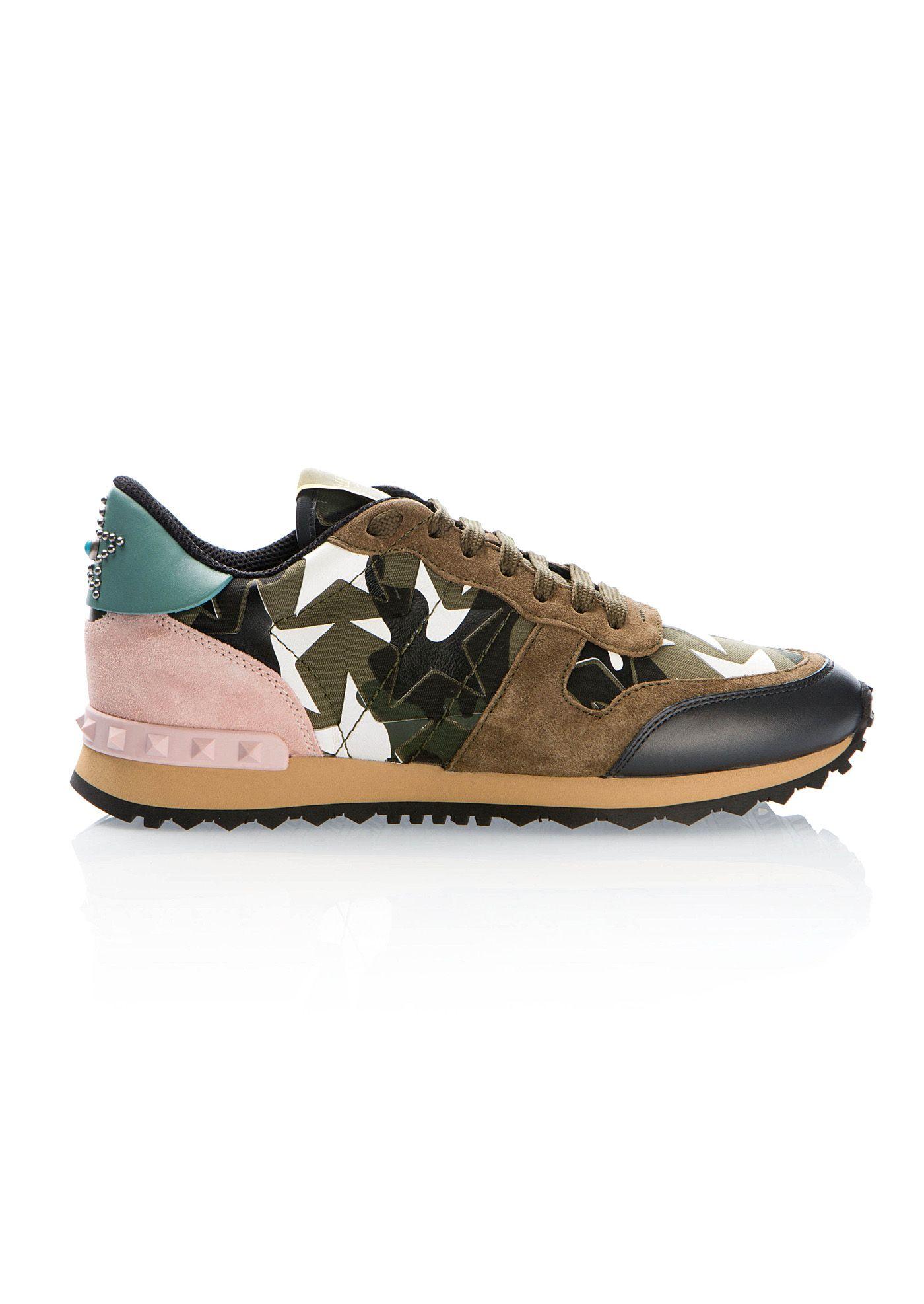 ea3108b2d VALENTINO Valentino Kaki Camustars Rockrunner Sneakers. #valentino #cloth #