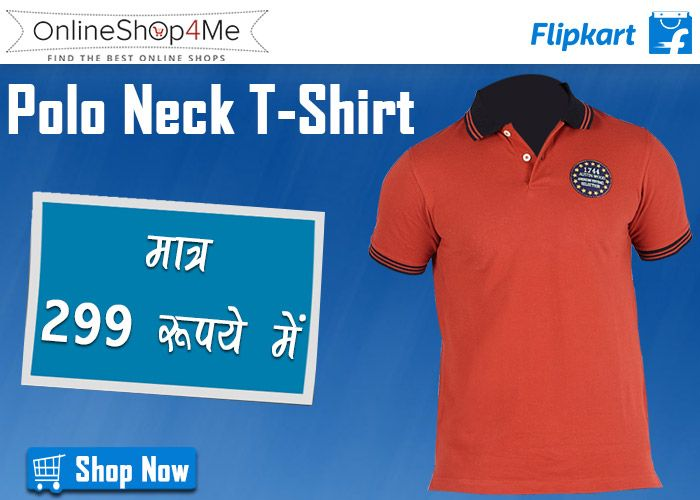Austin Wood Solid Men's Polo Neck T-Shirt Buy Now Price: Rs. 299