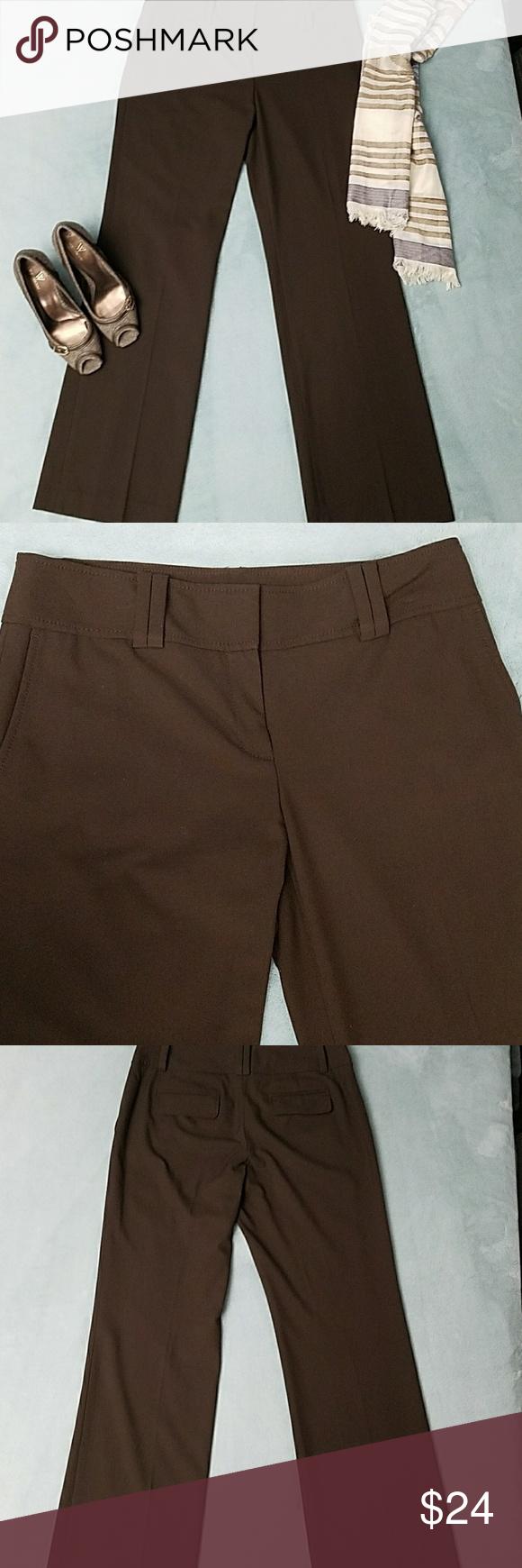 Ann taylor brown dress pants dress pants casual chic and slacks