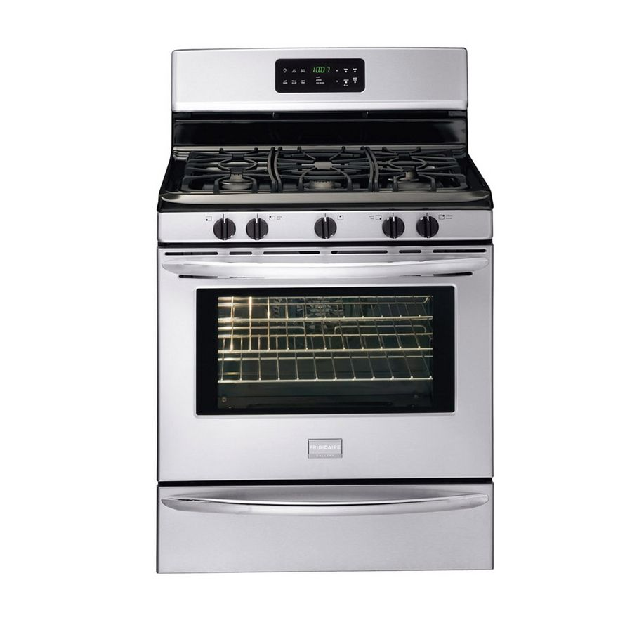 Shop Frigidaire Gallery 30-in 5-Burner Freestanding 5 cu ft Gas Range (Stainless Steel) at Lowes.com