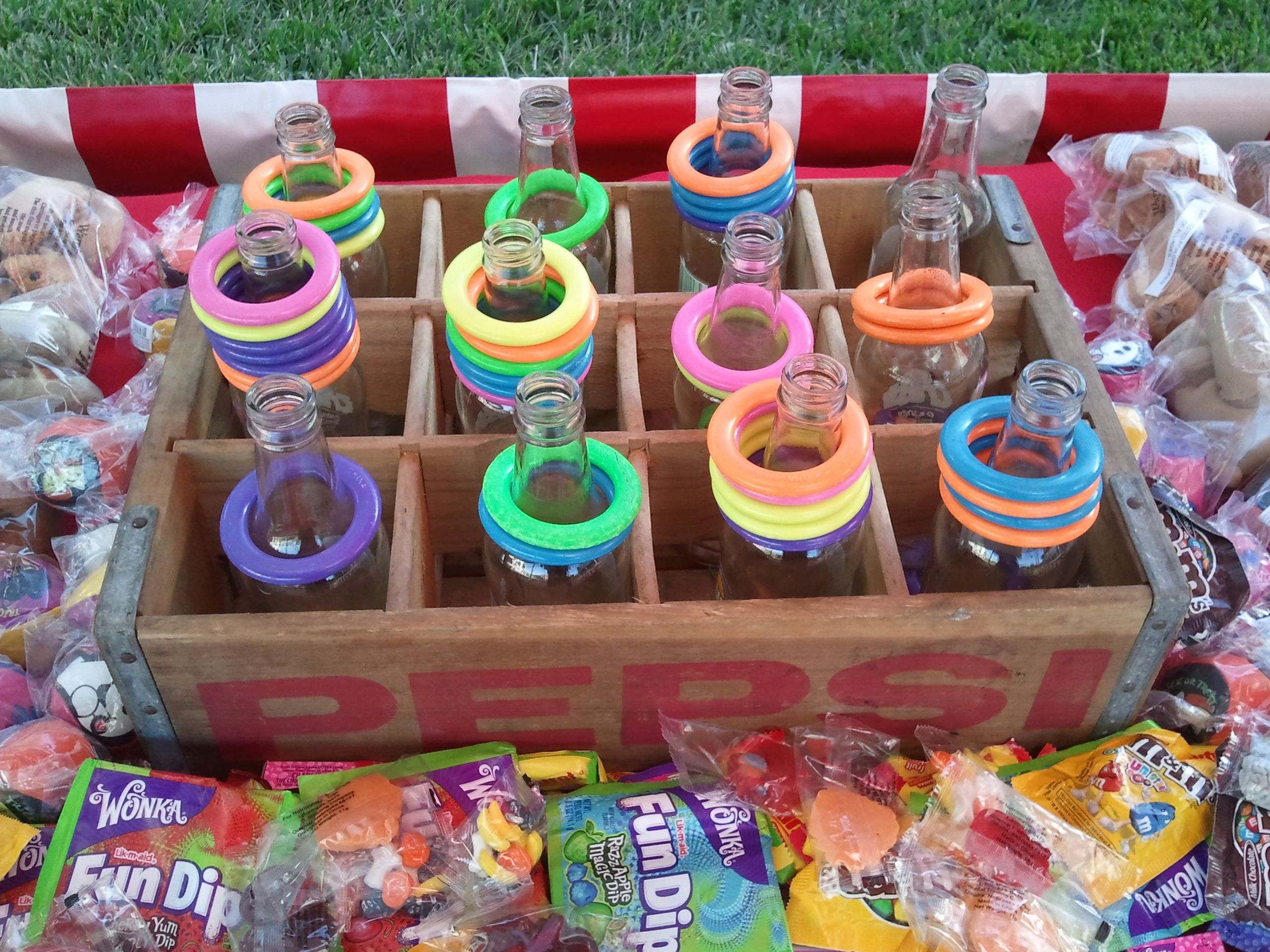 carnival games ring toss carnival game try and loop one of the