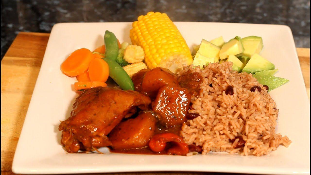 sunday dinner jamaican rice  peas recipe with brown stew