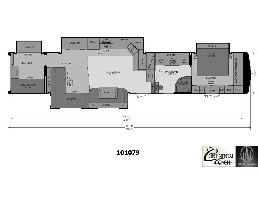 2 Bedroom 5th Wheel Floor Plans | camper | Pinterest | Wheels, Rv ...