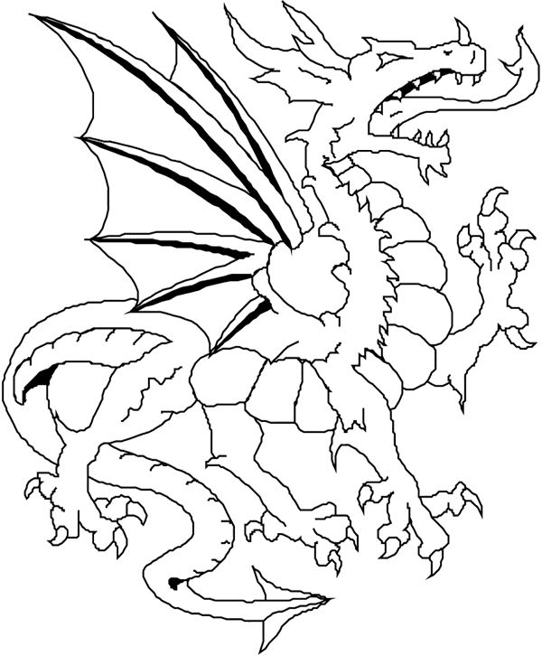 Coloringkids Net Dragon Coloring Page Coloring Pages Coloring Books