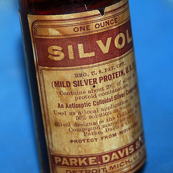 Mild Silver Protein U S P Vintage Old Bottle With A