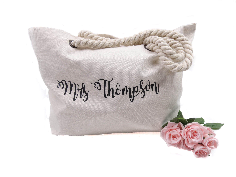 Mrs Tote Bag Bridal Shower Gift