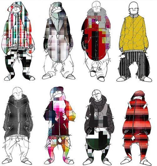 pixelated clothes fashion design