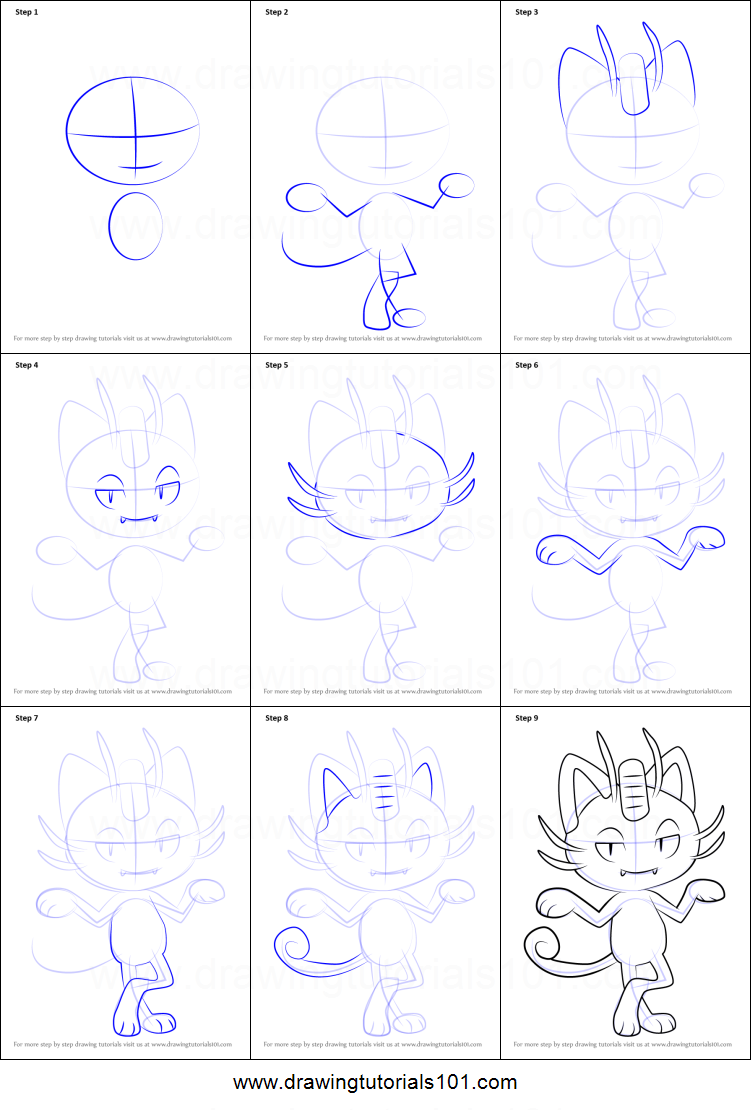 How To Draw Alola Meowth From Pokemon Sun And Moon Printable Step By Step Drawing Sheet Drawingtutorials101 Com Easy Pokemon Drawings Drawings Drawing Sheet [ 1110 x 751 Pixel ]