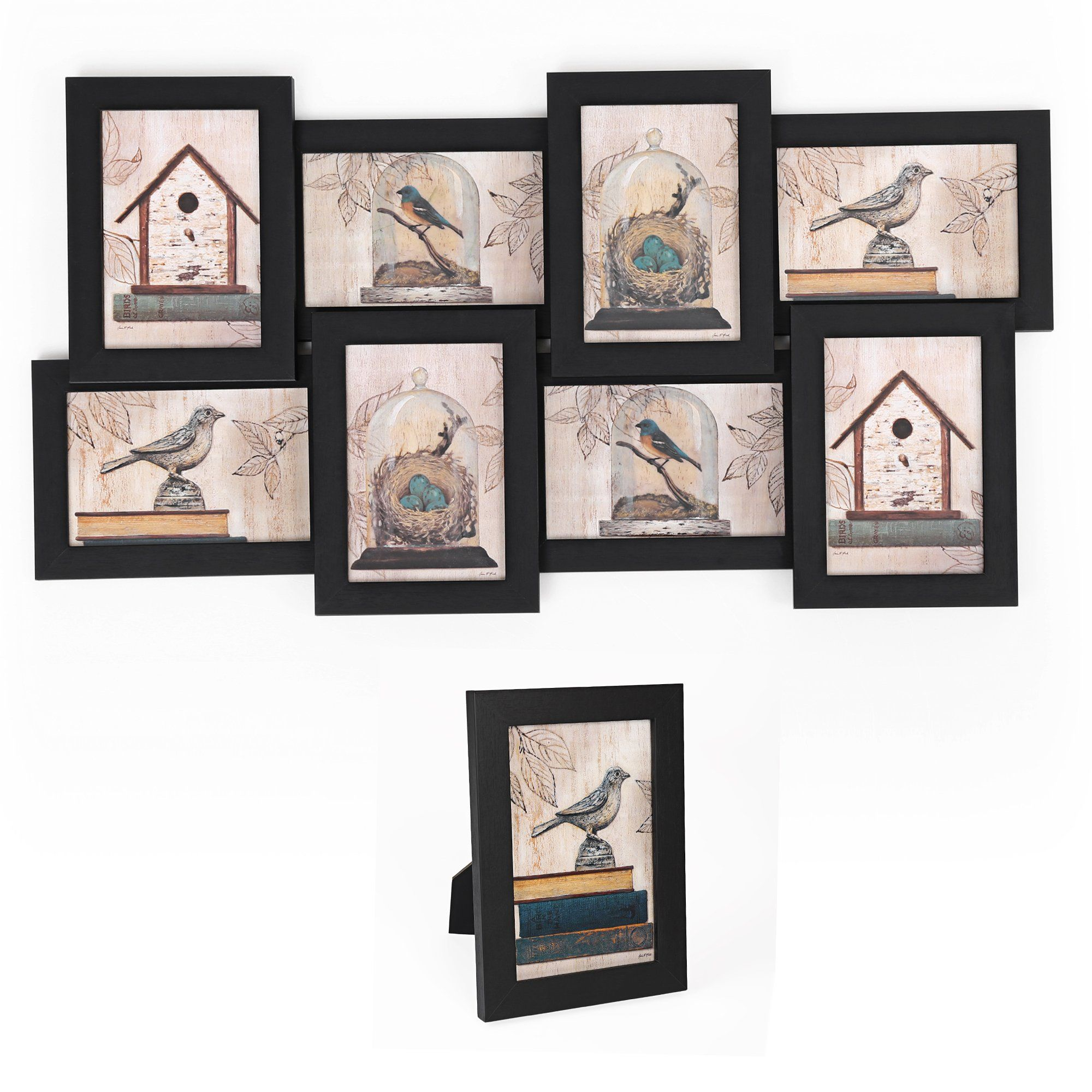 Songmics picture frames collage 4 x 6 puzzle wall mounting songmics collage picture frames x puzzle wall mount photo frame 8 openings 1 table stand black be sure to check out this awesome product jeuxipadfo Images