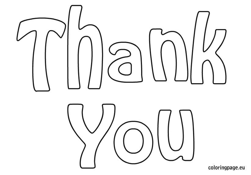 Thank You Cards Coloring Pages Coloring Pages Pinterest