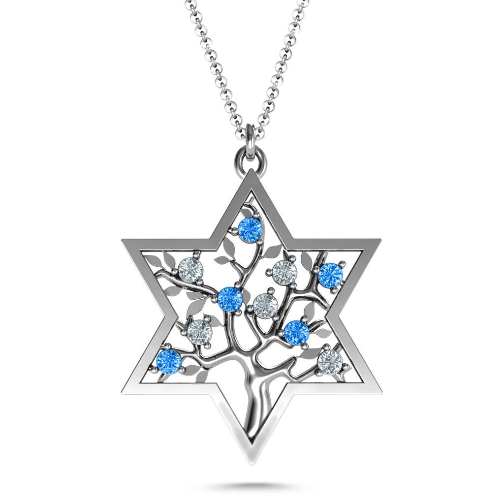 7ad32f70ba3a0a Tree of Life in Star of David Birthstone Pendant in 2019 | Products ...