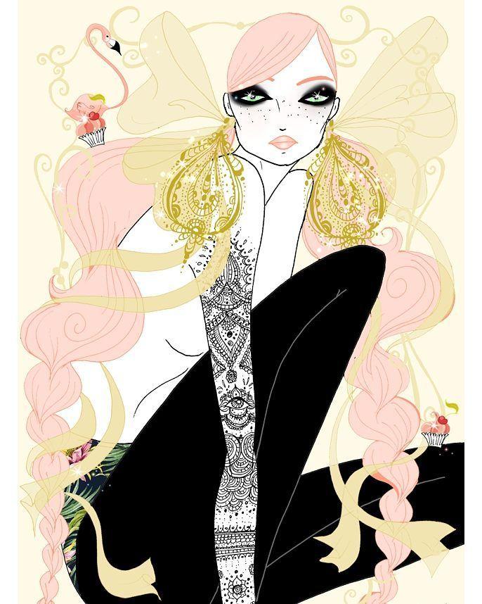 ❤❤ . . . . #soniamenti #illustration #illustrator #fashion #fashionillustration #fashionart #artwork #instaart #instamood #instagood #pinkhair #bighair #pastel #jewellery #flamingo #cupcakes #sweets #tattoo #ink #tattooart #bows #bohochic #feminine #bohemian #bohostyle #style #beauty #fashiondrawing #draw