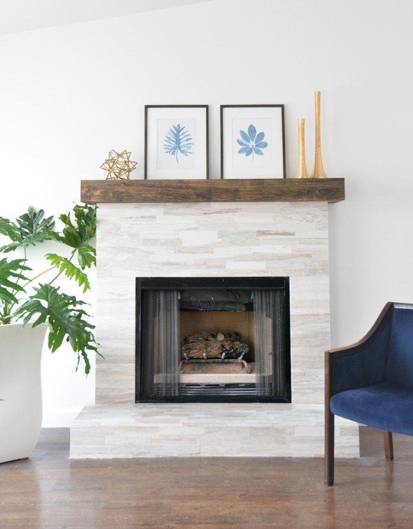 Diy Marble Fireplace Makeover Could Use Dad S Wood For Mantle