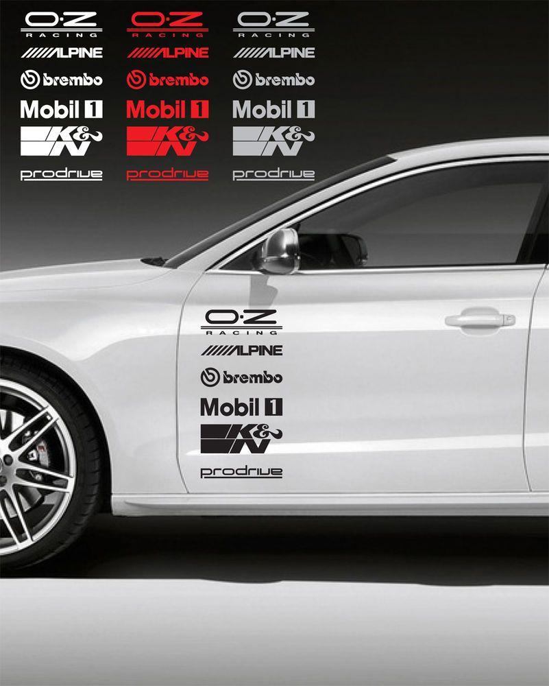 12pcs Racing Sponsors Logo Sport Graphic Emblem Decal For Any Car Bmw Subaru 3 Oracal Pegatinas Para Coches Calcomanias Para Coches Stickers Para Autos [ 1000 x 801 Pixel ]