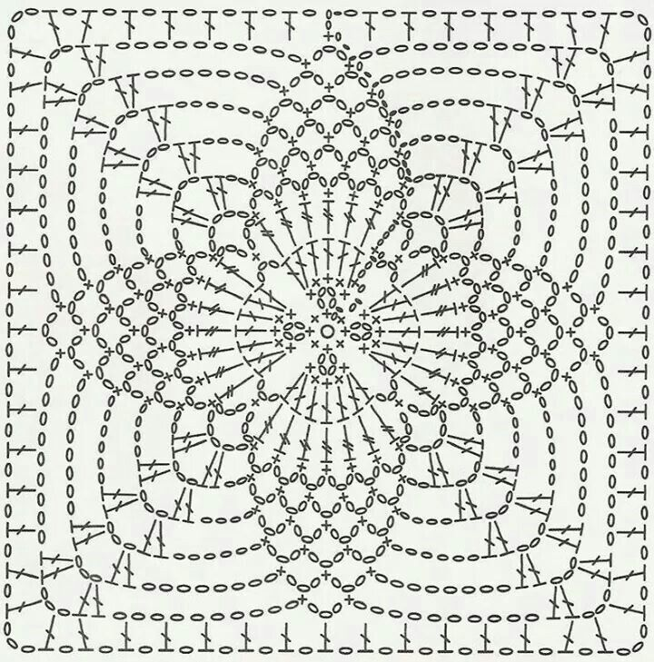 Pin von pxq am auf 方型图案 | Pinterest | Häkelmuster für Deckchen ...