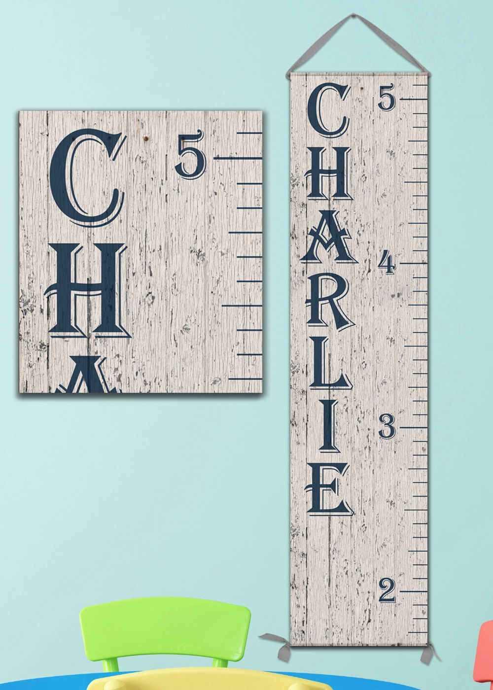Growth chart ruler 6 foot personalized canvas growth chart wooden
