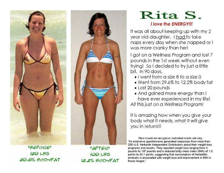 size zero weight loss