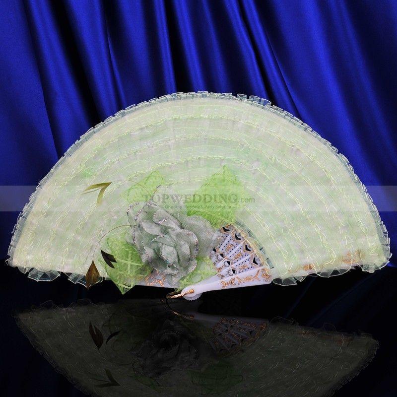 12PC-Personalized Sandalwood Fans Wedding Bridal Boda Party Favors Hand Folding