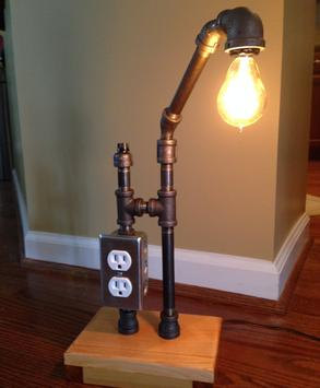 The Madison has been created with 3/8 black pipe and is set on a ...