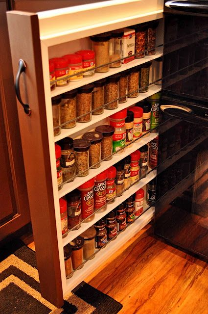 Spice Rack Nj Gorgeous Pull Out Spice Racki Want This On Each Side Of My Microwave Inspiration
