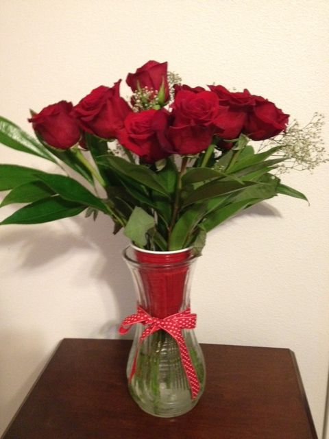 If your vase is too wide, improvise.