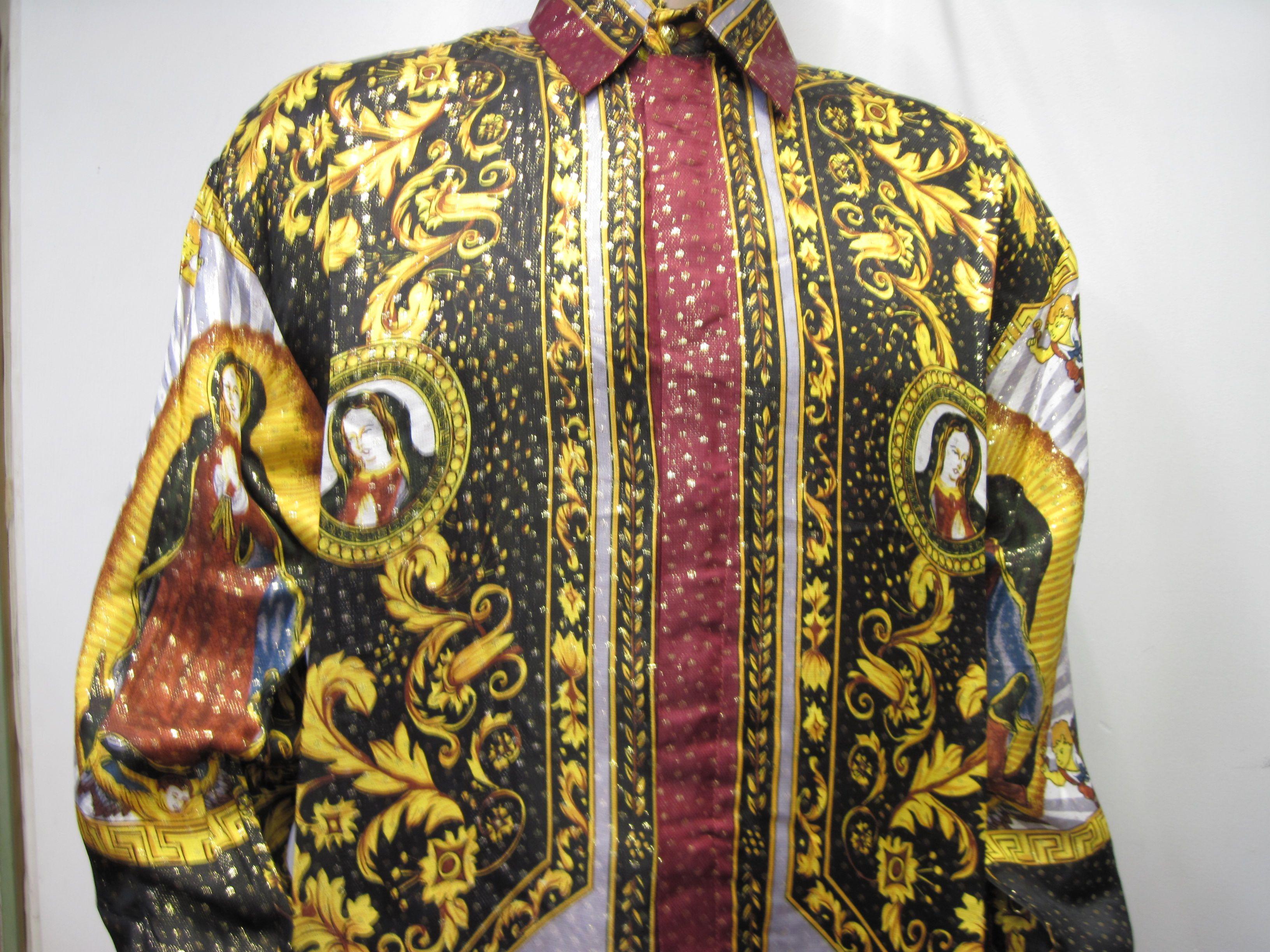 buy versace silk shirts