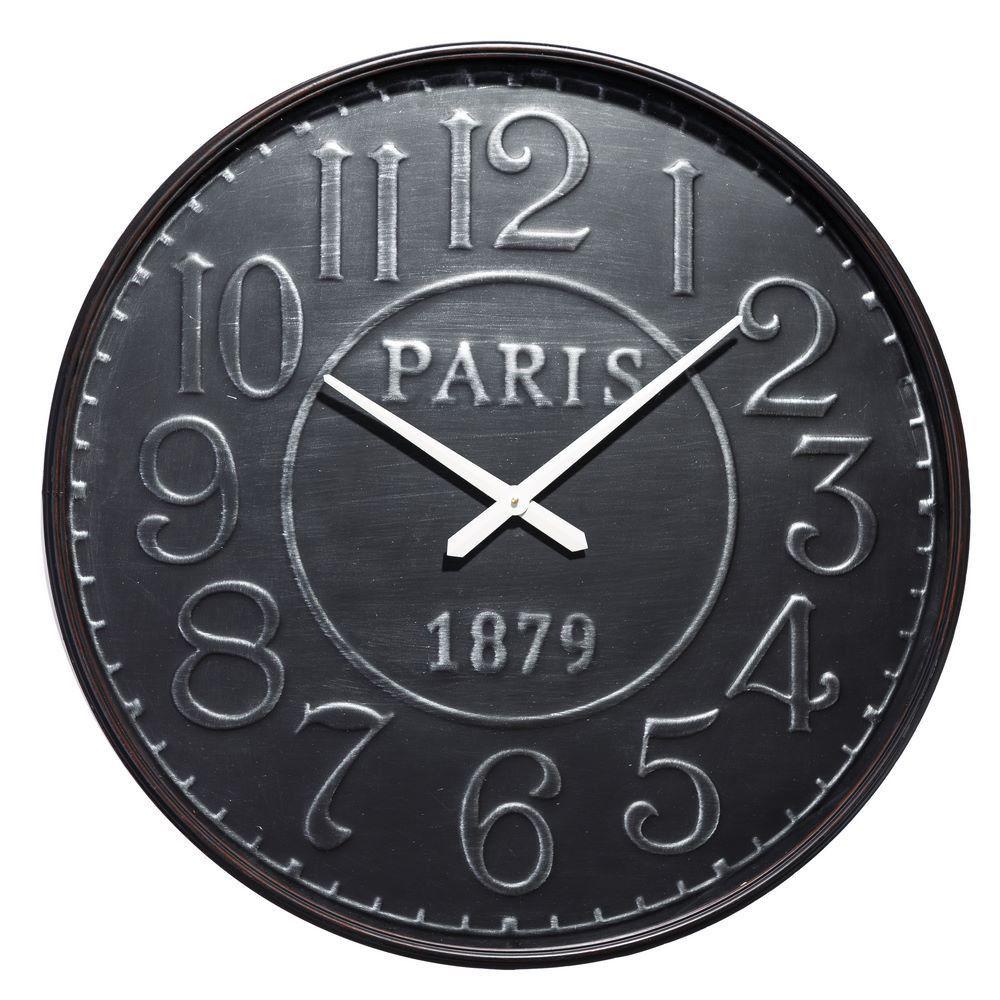 Reloj De Pared Industrial En Hierro 6 5 X 80 X 80 Cm Decoraci N  ~ Relojes Grandes De Pared Vintage