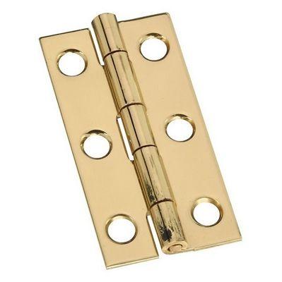 Stanley National Hardware 2 Pack 2 In Polished Brass Interior Concealed Door Hinge Solid Brass Hardware