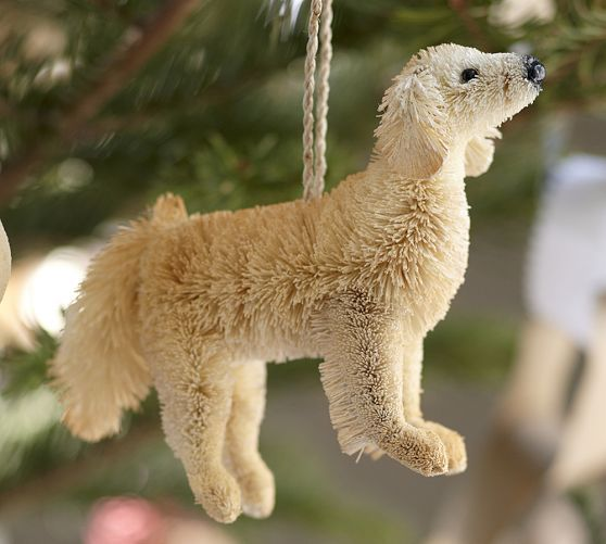 Bottlebrush Labrador Retriever Ornament Dog Ornaments
