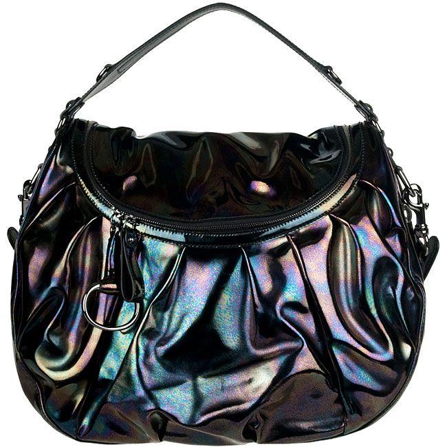 d4222dab52db Image detail for -Gucci Icon Bit Black Iridescent Leather Medium ...