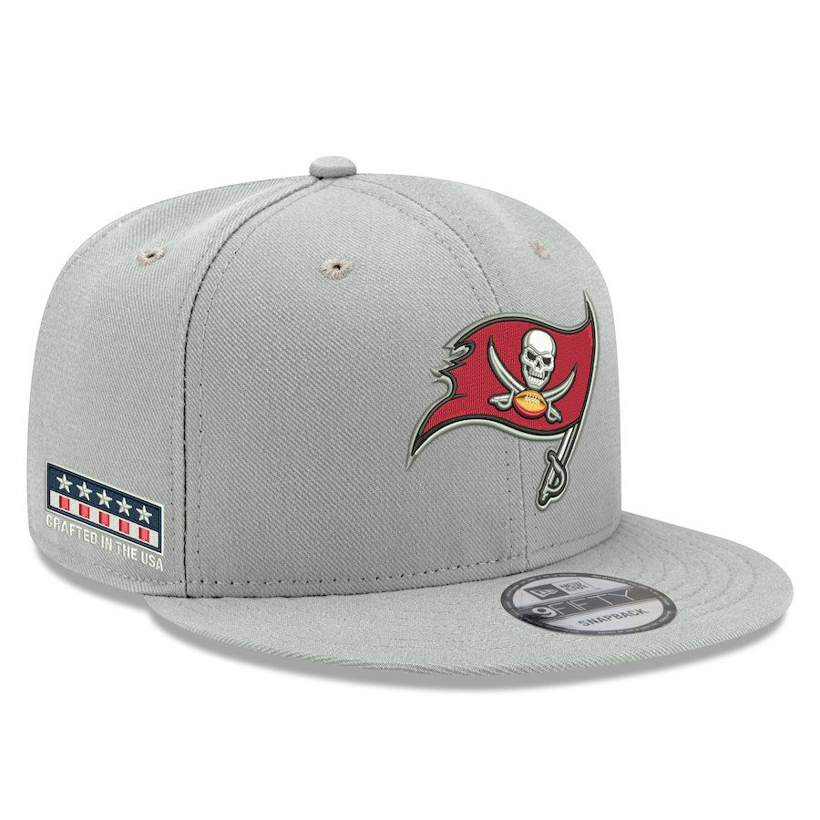 Men s Tampa Bay Buccaneers New Era Gray Crafted in the USA 9FIFTY  Adjustable Hat dec79dcb2