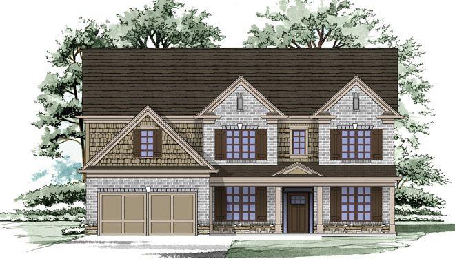 North Atlanta New Homes by Home South Communities - Garner Creek Hillgrove II