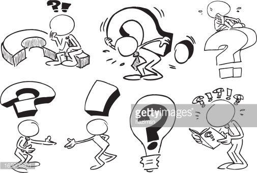 Arte Vectorial Rostro De Caracteres Con Preguntas Dibujo De Personajes Dibujos Garabateados Hojas De Trabajo De Arte