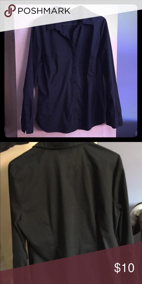 Plain black button down shirt   Black button down shirt, Wells and ...