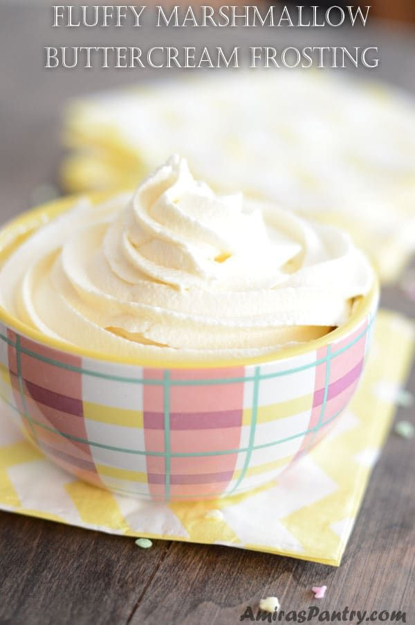 Marshmallow Buttercream frosting #marshmallowflufffrosting