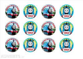 It is a picture of Gutsy Free Printable Thomas the Train Cup Cake Toppers