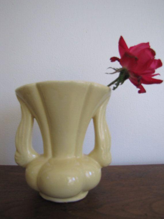 Vintage Small Niloak Vase Niloak Pottery Yellow Pottery Vase