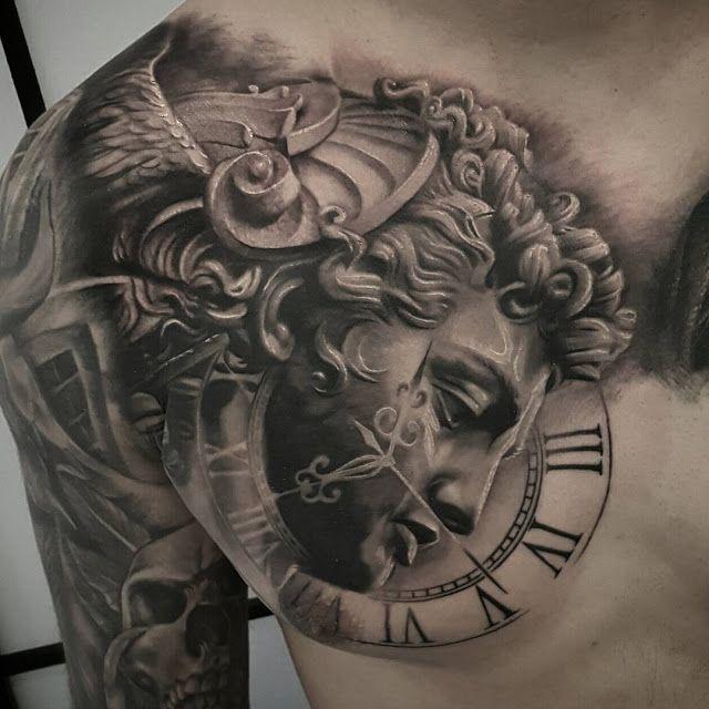 Art And Tattoo Tattoos Pinterest Tatouage Tatouage Horloge