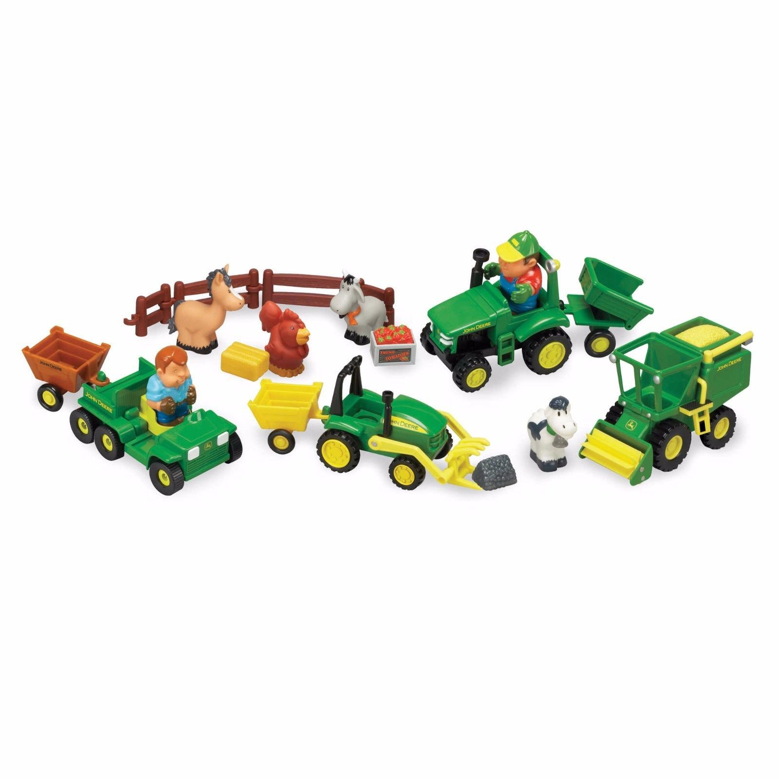 John Deere Toys For Toddlers Boys Girls Farm Creative Play Set
