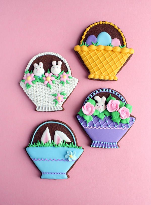 Easter Baskets | Cookie Connection | Easter bunny cookies ...